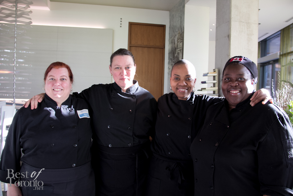 The Sistering chefs that were in attendance (l-r): Trish Beard, Dini Densmore, Carol Gray, Maureen Watson