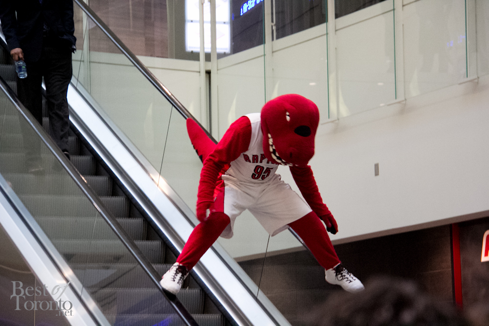 The Raptor with some impromptu escalator stunts!