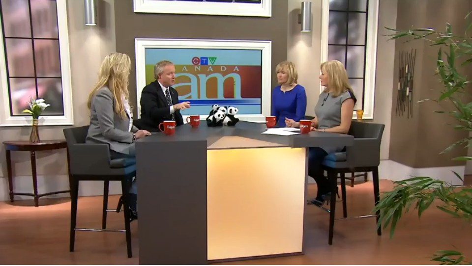 Lisa Lisson, FedEx Canada President , Toronto Zoo, John Tracogna, Toronto Zoo CEO, Laureen Harper, wife of PM Stephen Harper on Canada AM