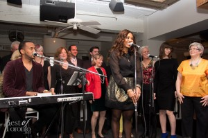 Divine Brown singing with the Toronto Choral Society