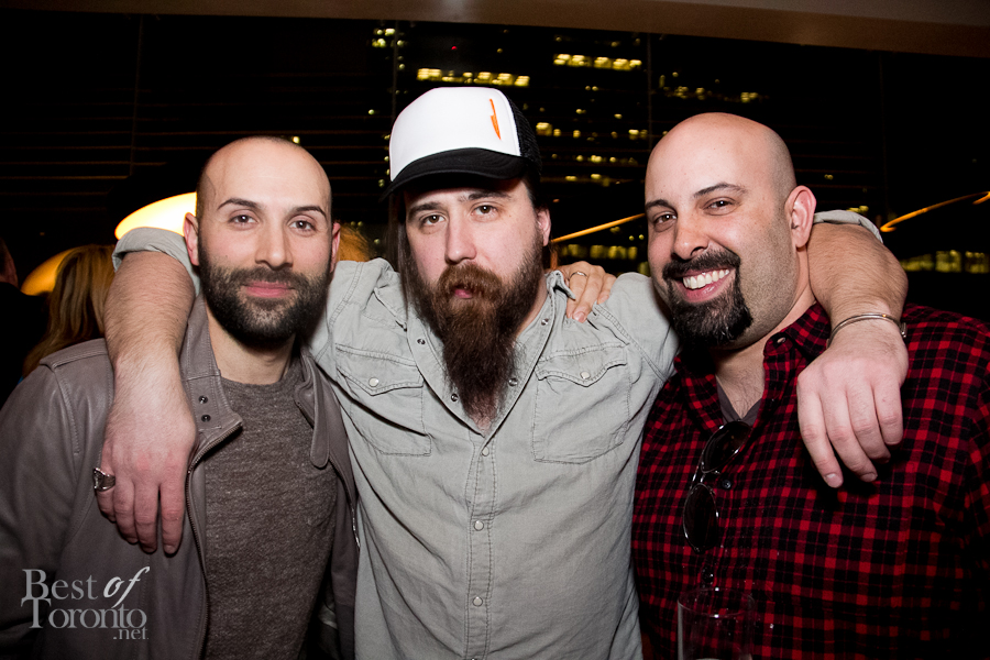 From the Terroir 2013 reception at Momofuku: Chef Rob Gentile (Buca, The Saint), Bertrand Alepee (The Tempered Chef), Scott Vivian (Beast Restaurant) | Photo: Nick Lee