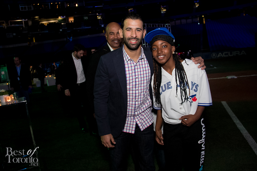 Jose Bautista with a fan