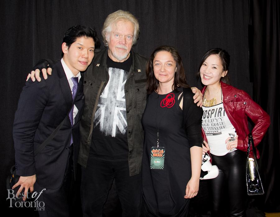 Nick, Randy Bachman, Mona Filip (curator, Koffler Gallery), Tanya Hsu