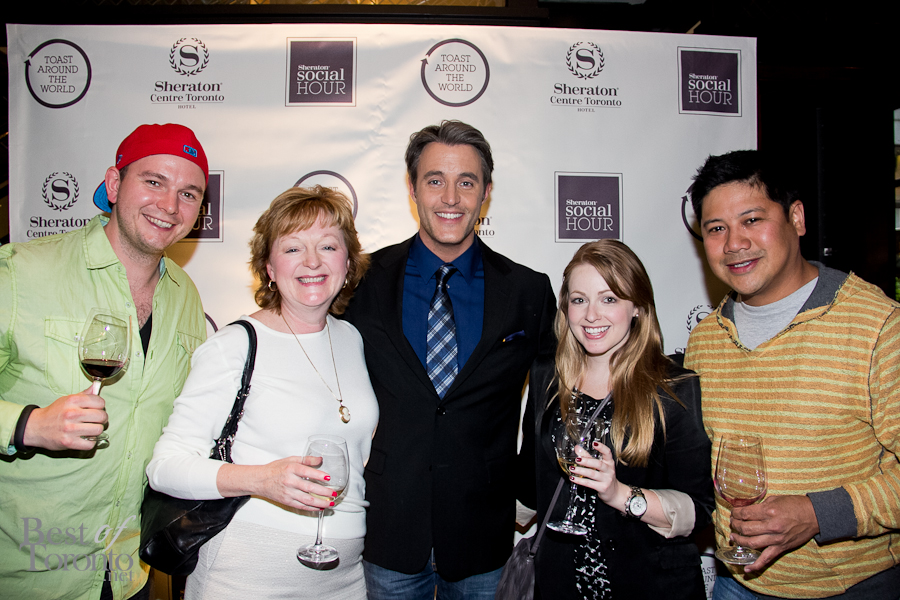 Ben Mulroney with our friends at Sheraton Centre's Social Hour launch event in Toronto: Graham Rowlands, Shannon Kelly and her mom and Joallore Alon