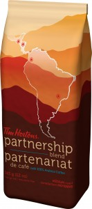 Tim Hortons Partnership Blend Packaging
