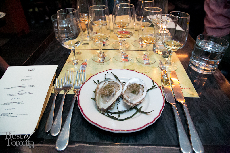 East Coast Oyster topped with Jim Beam jelly