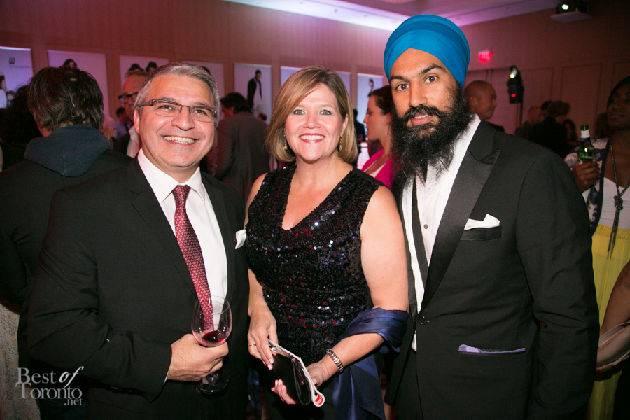 middle: Andrea Horwath, leader of the Ontario NDP