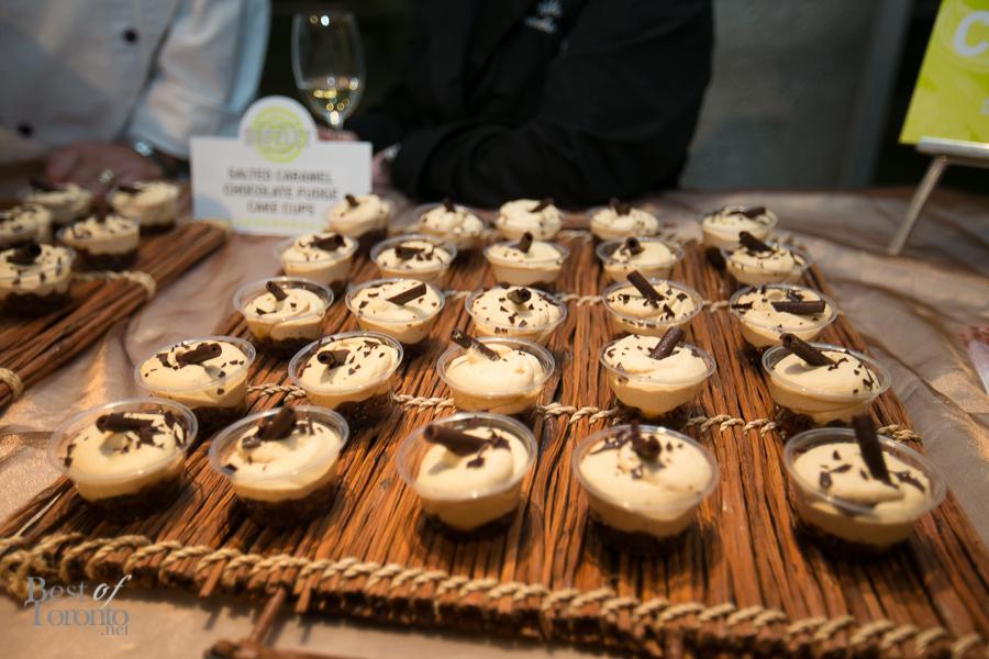 Salted caramel, chocolate fudge cake cups - Dufflet Pastries