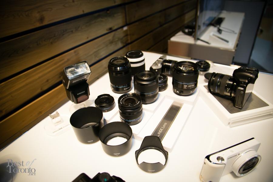 The Galaxy NX Camera's lenses