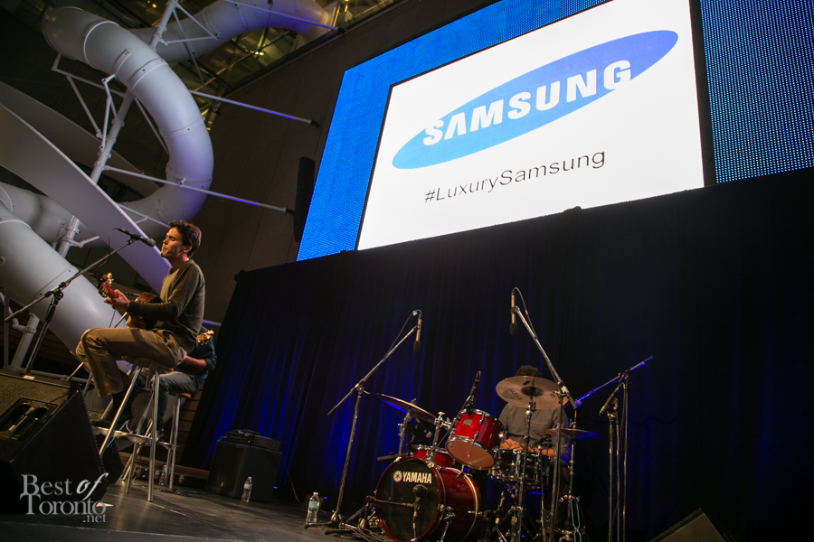 Justin Nozuka at the Samsung TV preview at Corus Quay