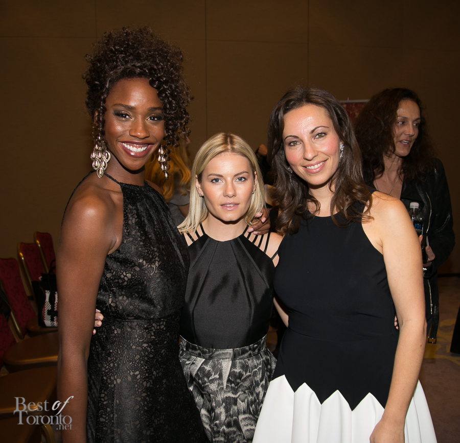 At the CAFA nominees announcement with Tenika Davis (actress), Elisha Cuthbert (actress), Vicky Milner (CAFA managing director)
