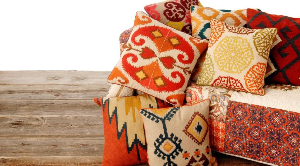 Lucian Matis Home Ikat pillow collection