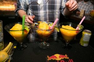 Giant mango margaritas