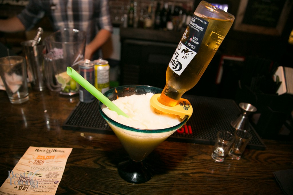 "Rock n Horse Saloon's signature drink ""The Bulldog """