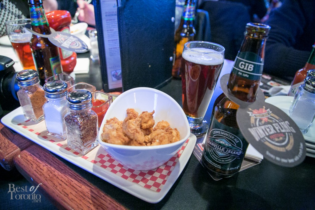 Pairing my Cluckin' Chicken Dippers with Granville Island Lions Winter Ale