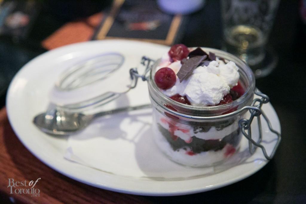 Cherry on Top Chocolate Trifle