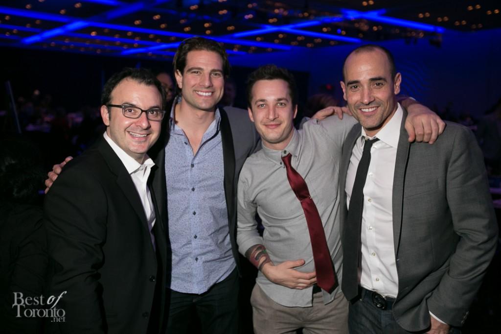 Handsome boys: John Catucci, Scott McGillivray, Grant van Gameren, David Rocco