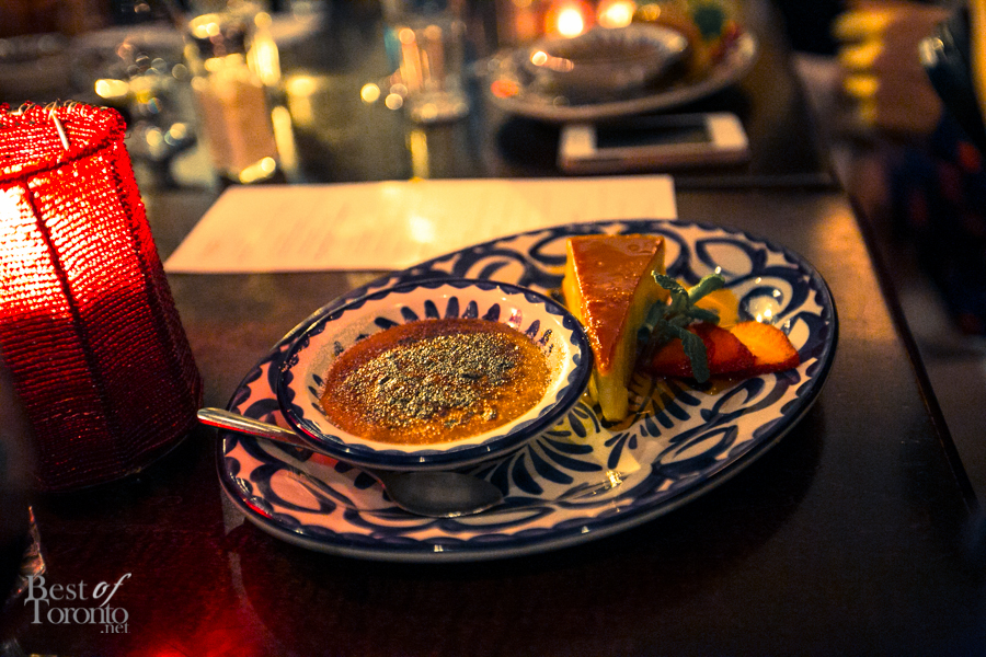 """Dessert: """"Flan de Queso Al Caramelo"""" traditional homestyle cheese flan with a top layer of burnt sugar sauce"""