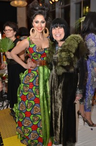 "Veronica Chail and Pat McDonagh at last year's Dare to Wear Love gala with the theme of ""Flower Power"" 