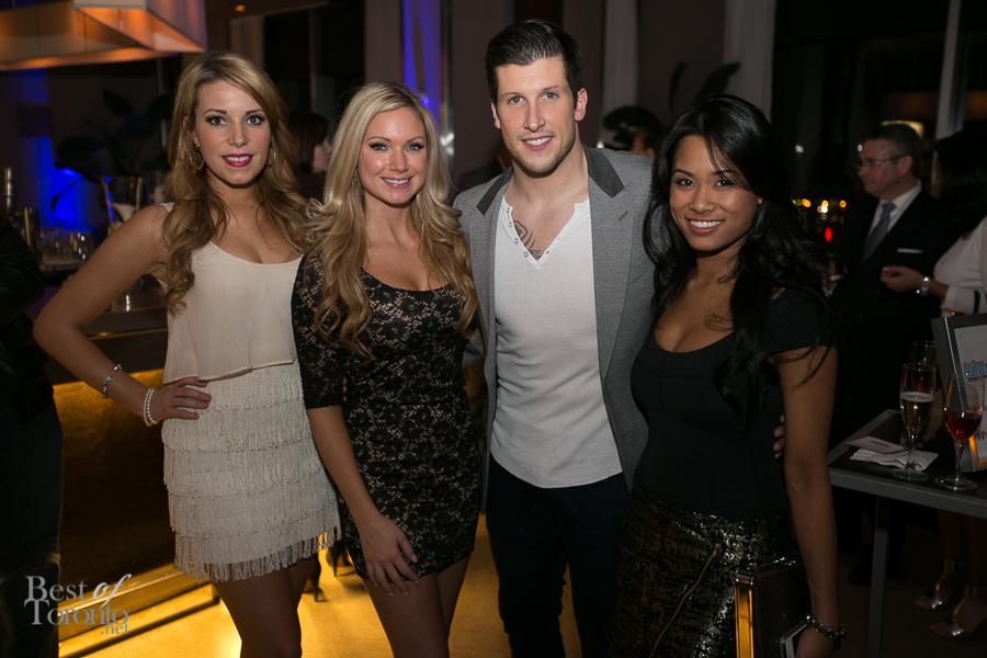 Brad C. Smith with some Toronto Argos cheerleaders