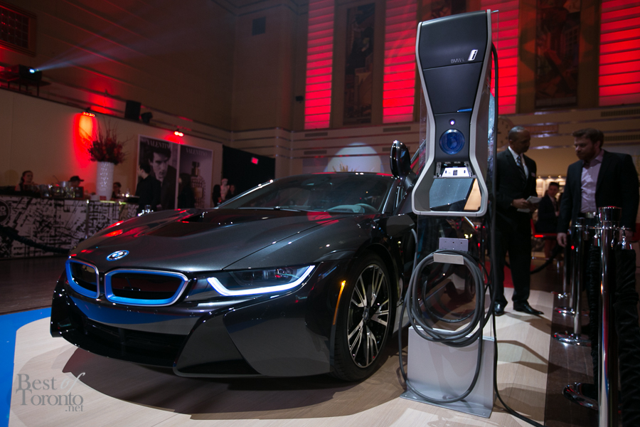 The BMW i8 hybrid supercar