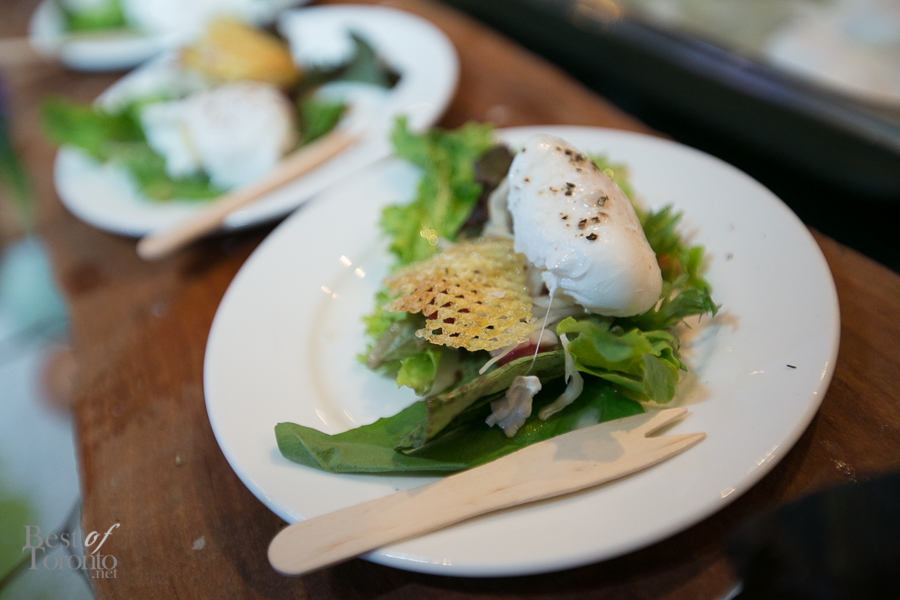 Jamie Kennedy's Fermented Vegetable and Fresh Green Salad with Jeff's Sunflower Oil
