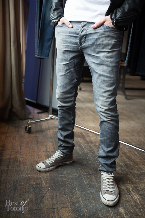 "In men's jeans we have ""Sartor: search & destroy"" with a slouchy skinny fit"