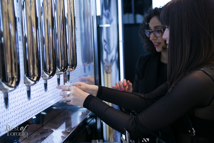 Dispensing the Thierry Mugler fragrances at Hudson's Bay | File Photo: Nick Lee