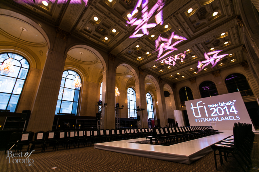 A view of the runway before the start of TFI New Labels 2014