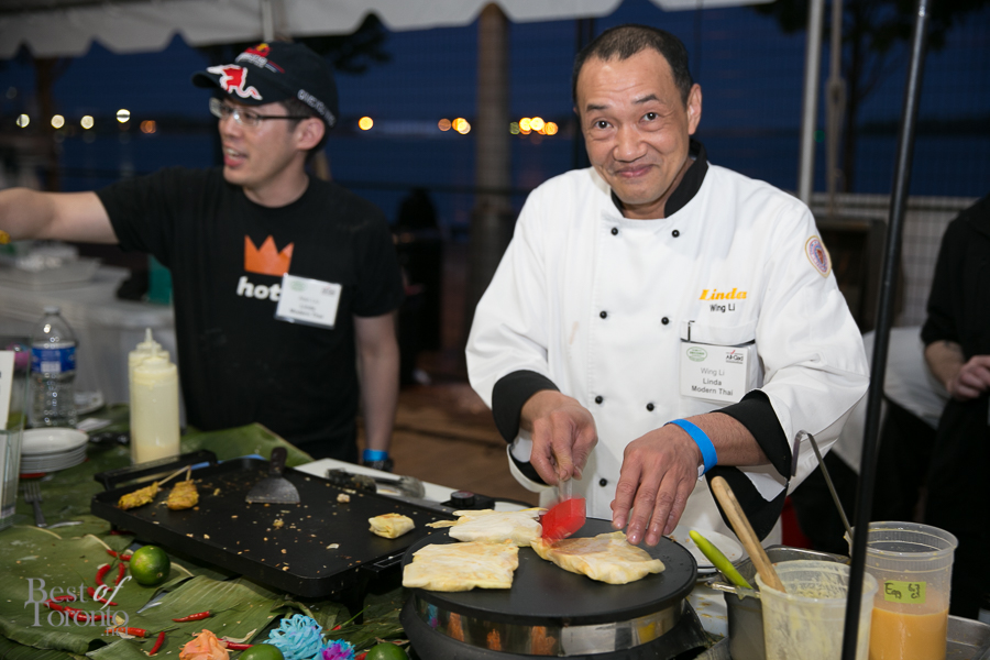 Chef Wing Li, Linda Modern Thai serving up some amazing banana crepes