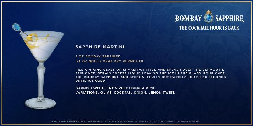 Bombay Sapphire Martini recipe