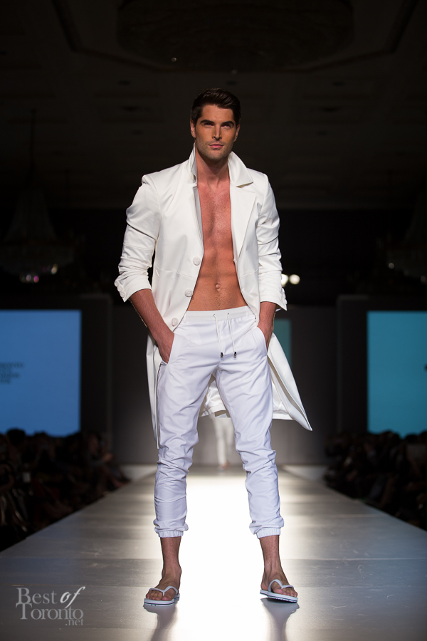 Nick Bateman wearing HD Homme white on white
