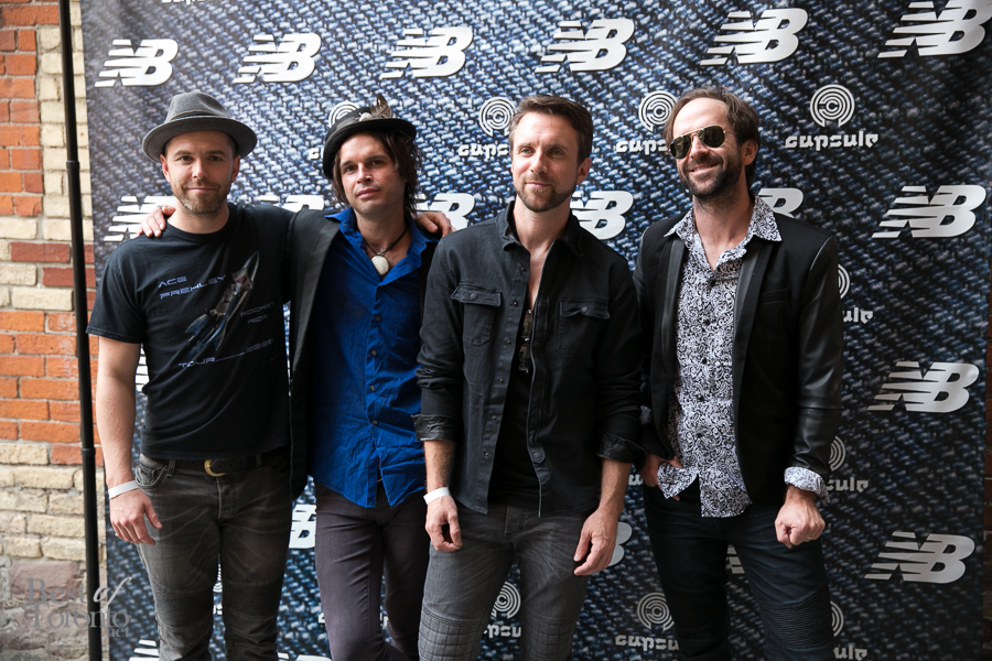 Canadian rock faves, The Trews, make a visit to the Capsule Tuxedo launch event | Photo: Nick Lee