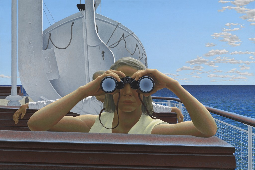 Alex Colville. To Prince Edward Island, 1965. On loan from National Gallery of Canada. © A.C. Fine Art Inc. Courtesy of Art Gallery of Ontario.