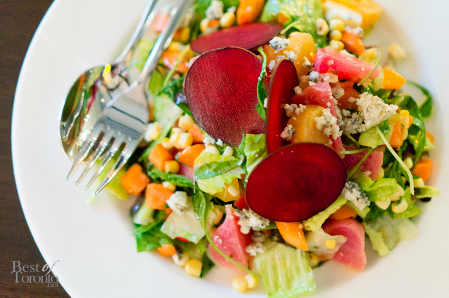 Chopped salad - poached vegetables, parsley, dressing, blue cheese | Photo: John Tan