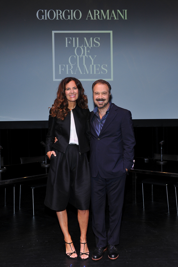 Roberta Armani (daughter of Giorgio Armani) and Edward Zwick