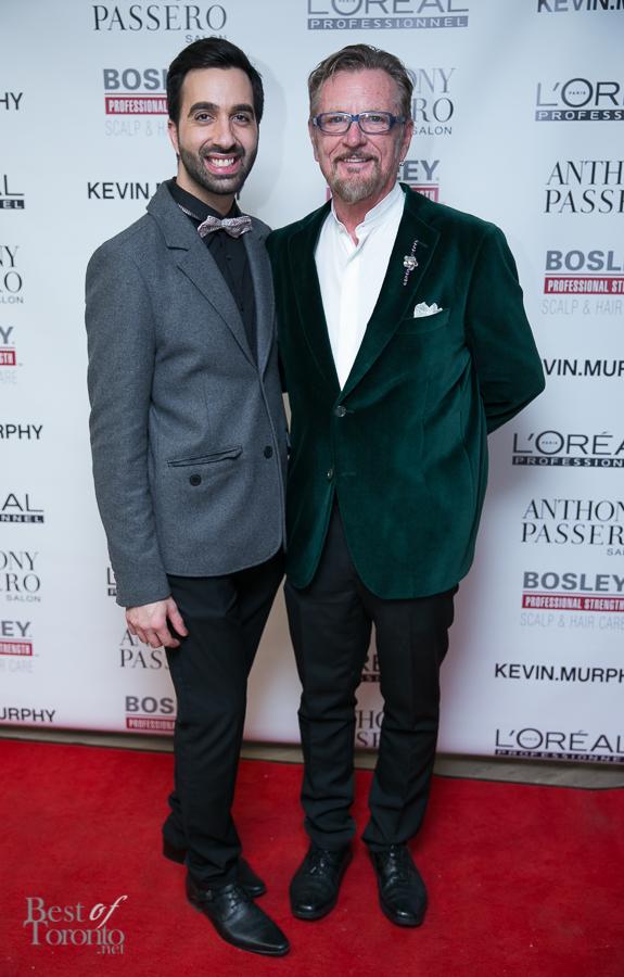 Anthony Passero with his friend, veteran stylist, Robin Barker