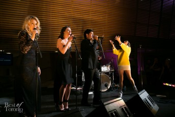 Yelle performing with the Canadian Opera Company's Ensemble Studio