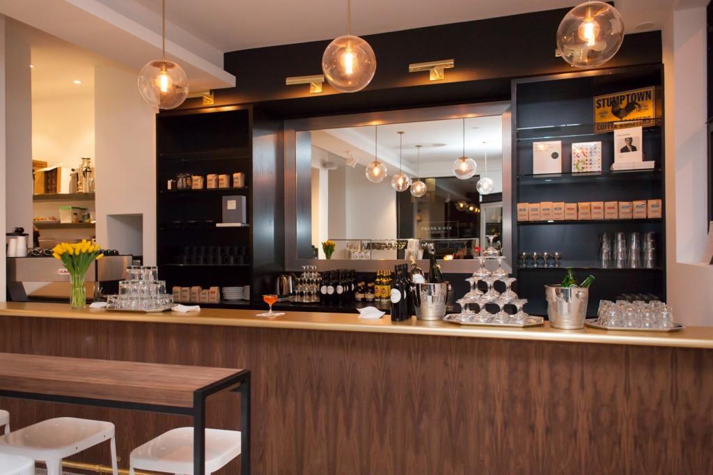 The cafe inside the Frank & Oak Toronto flagship