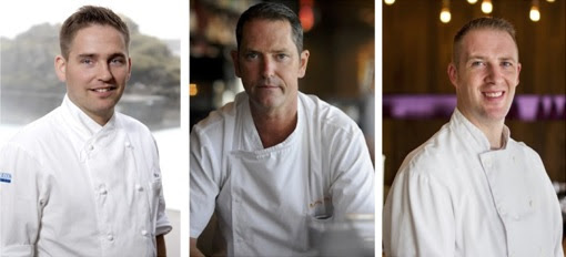 Chefs Viktor Örn Andrésson, Anthony Walsh and Michael Wilson. Images courtesy of Taste of Iceland, Cindy La and Garrison McArthur Photographers.