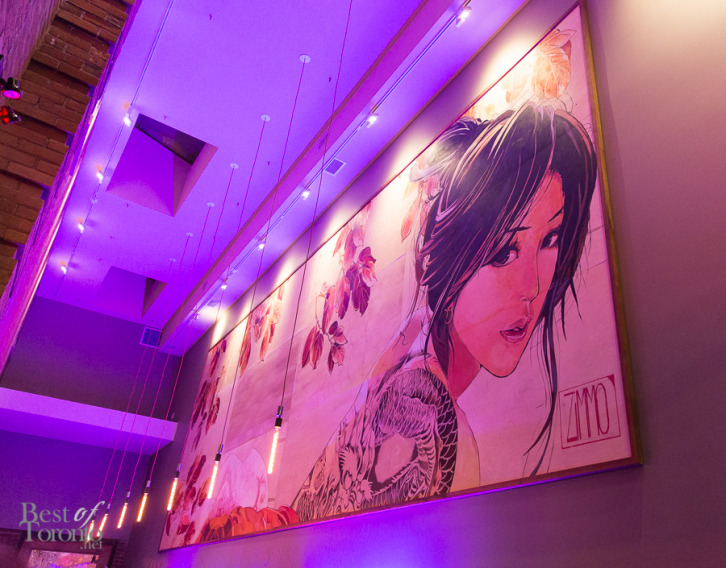The large Japanese mural at BarFish | Photo: Nick Lee