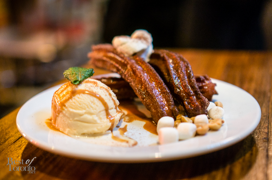 Churros Poutine and Sweet Milk Ice Cream | Photo: John Tan