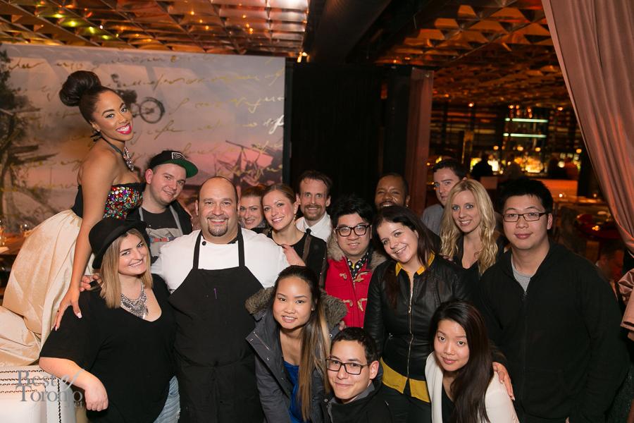 Group photo with Chef Davide Ianacci