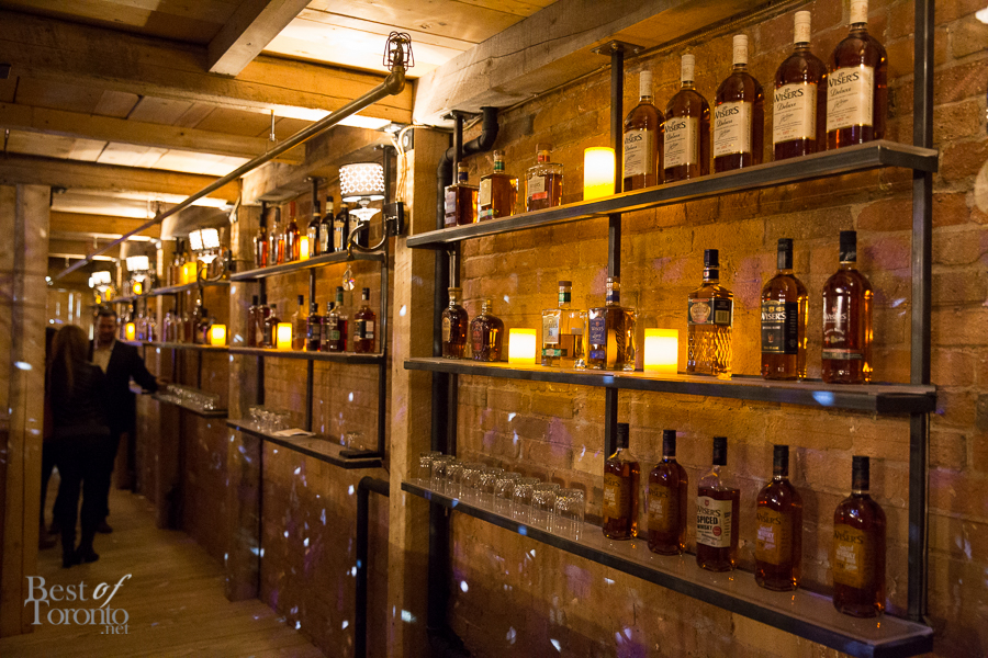 Inside the whisky tunnel at CC Lounge