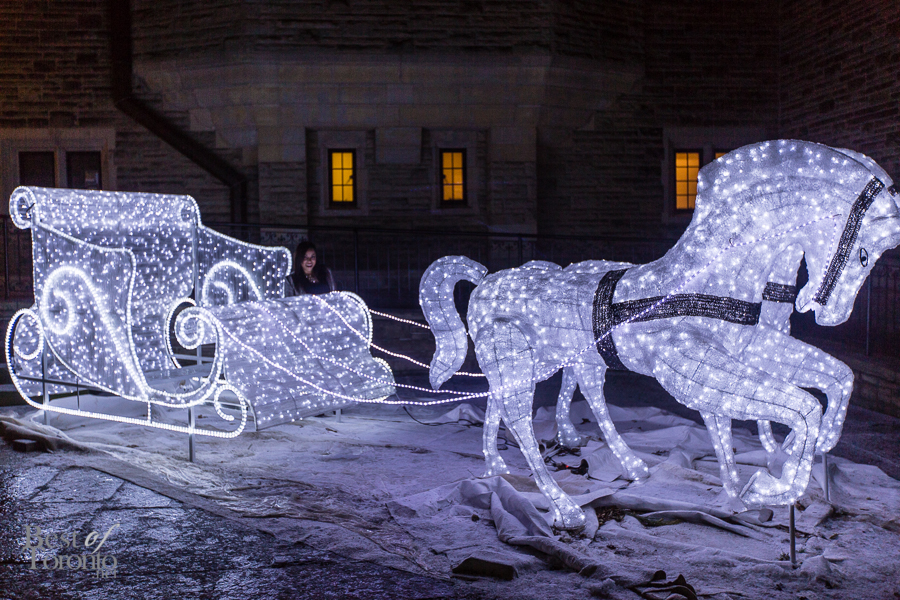 On the Casa Loma sleigh with Natalie Deane
