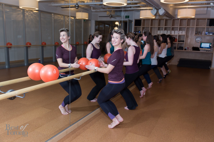 Natalie Korol posing in a Barre3 class