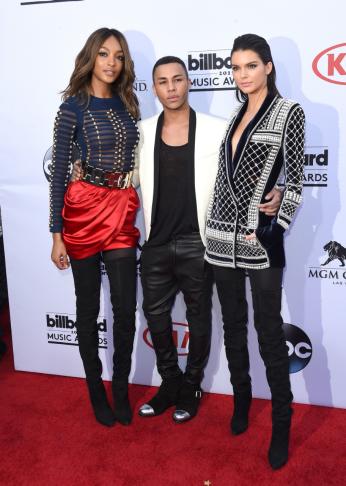 Jourdan Dunn, Olivier Rousteing, and Kendall Jenner