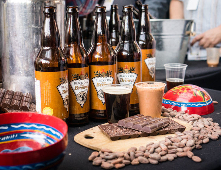 Black Oak Brewery's Nut Brown Ale with ChocoSol Traders' chocolate