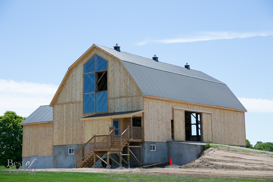 The large, new barn at Burl's Creek