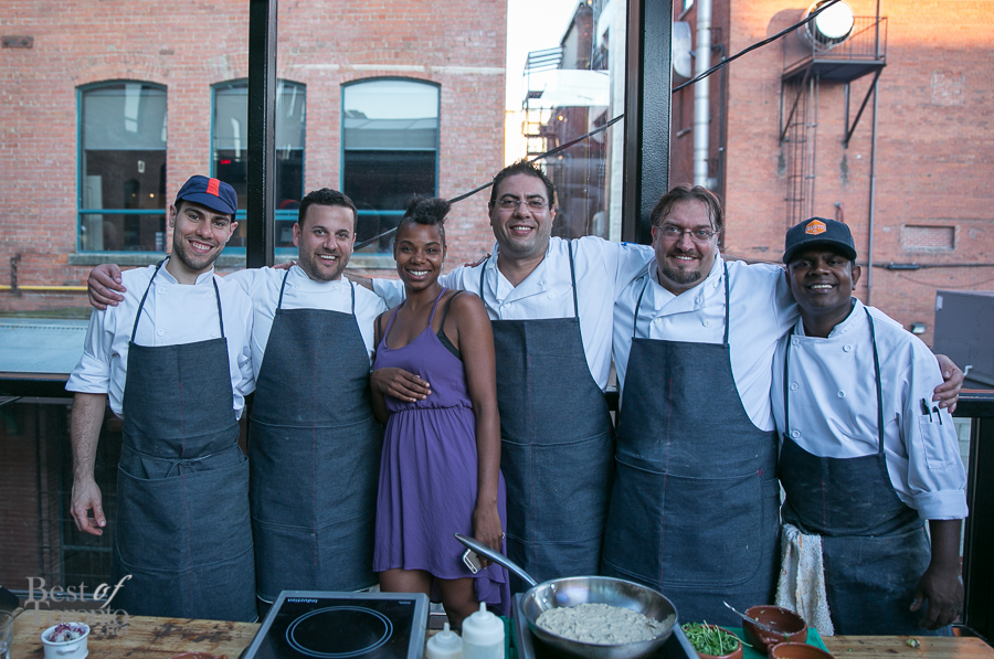 Members of the Gusto 54 Catering team